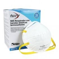 Respirador desechable HY8710 Derma Care polvos