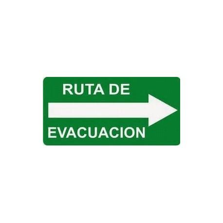 Señal ruta de evacuacion 20x40