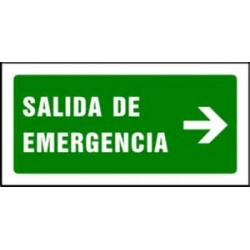 Señal Salida de Emergencia 40x20