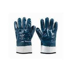 Guante de algodon con nitrilo azul 67 805