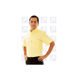 Camisa color paja manga corta