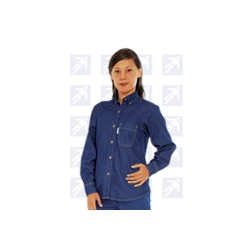 Blusa mezclilla 8 onzas manga larga